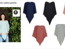 Tif tiffy poncho van organic cotton