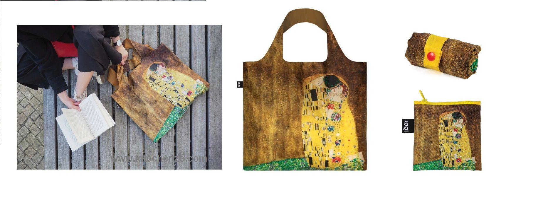 loqi shopper the kiss van gustav klimt bij kitschenzo