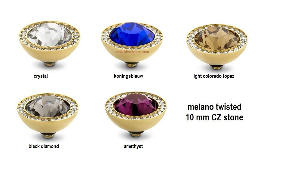 melano twisted 10 mm cz stone
