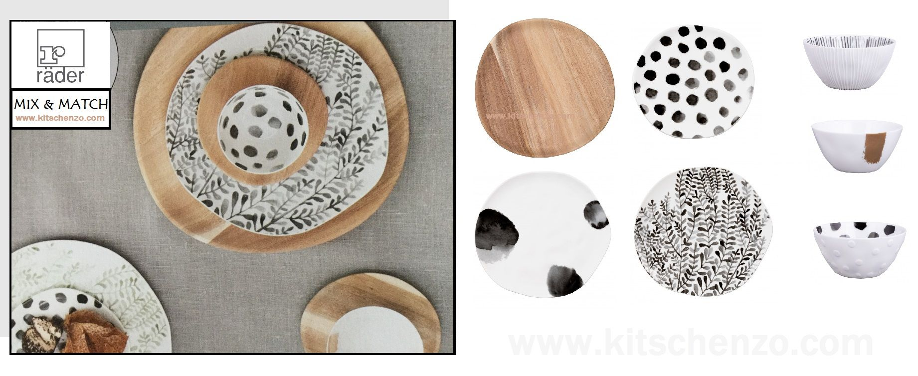 Räder mix & match collectie servies bij kitschenzo